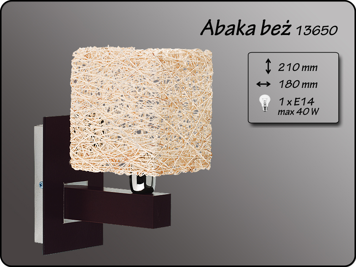 ALFA • ABAKA BEZ, fali lámpa, ALFA