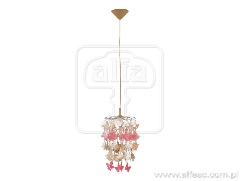 ALFA • CONCHA, függeszték, pillangós, rózsaszín, ALFA