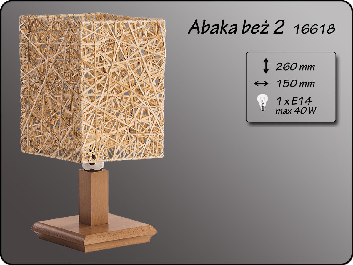 ALFA • ABAKA BEZ 2, asztali lámpa, ALFA