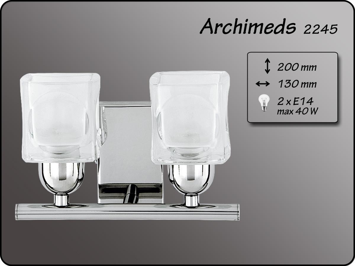 ALFA • ARCHIMEDES MINI, 2 ágú fali lámpa, ALFA