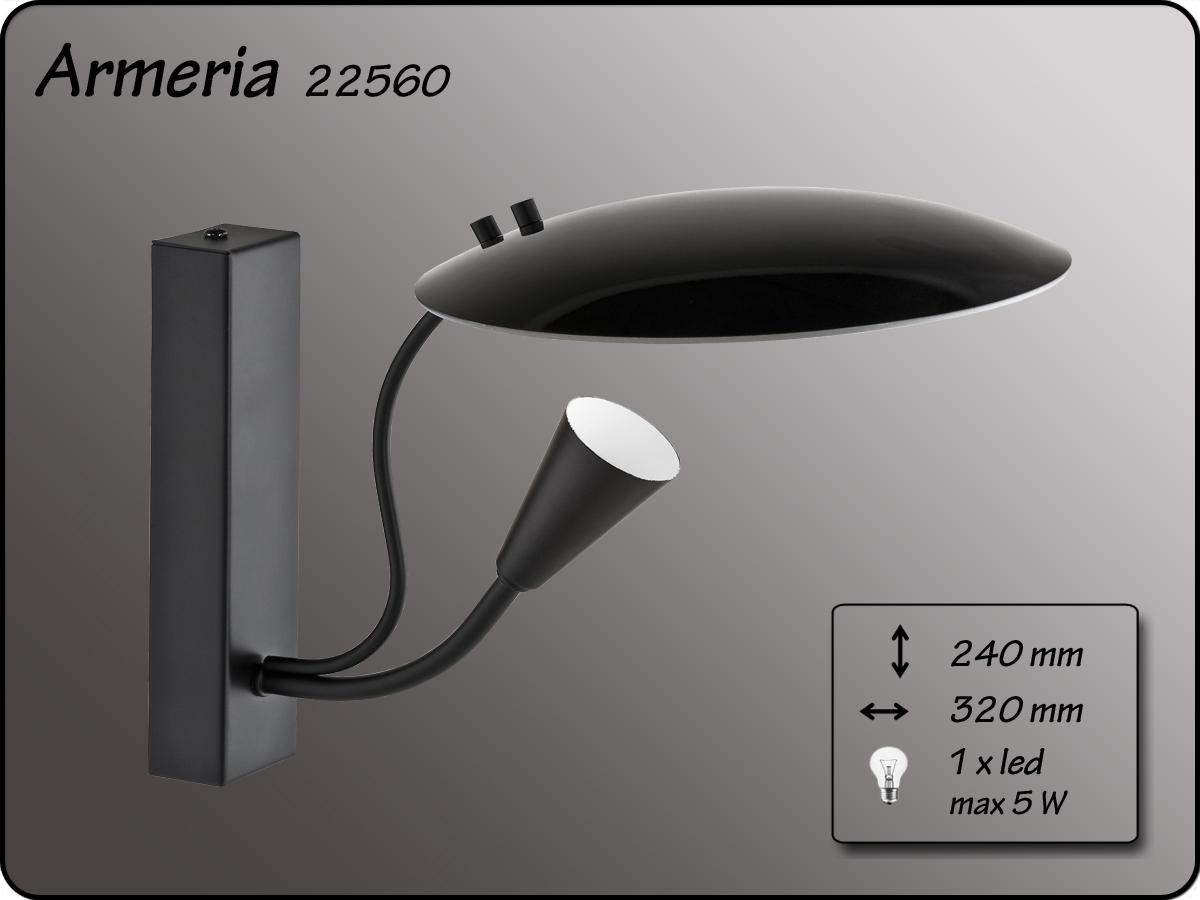 ALFA • ARMERIA BLACK, fali lámpa, ALFA