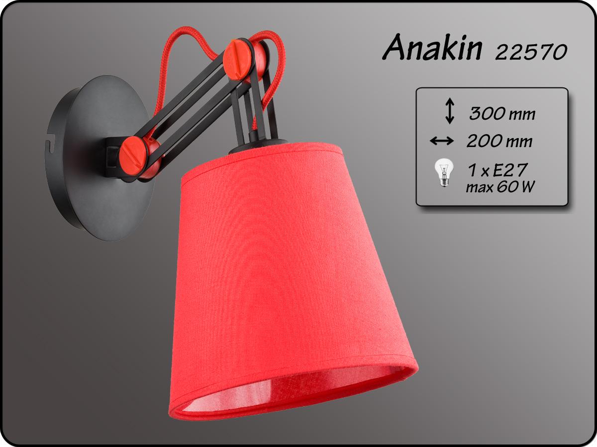 ALFA • ANAKIN RED, fali lámpa, ALFA