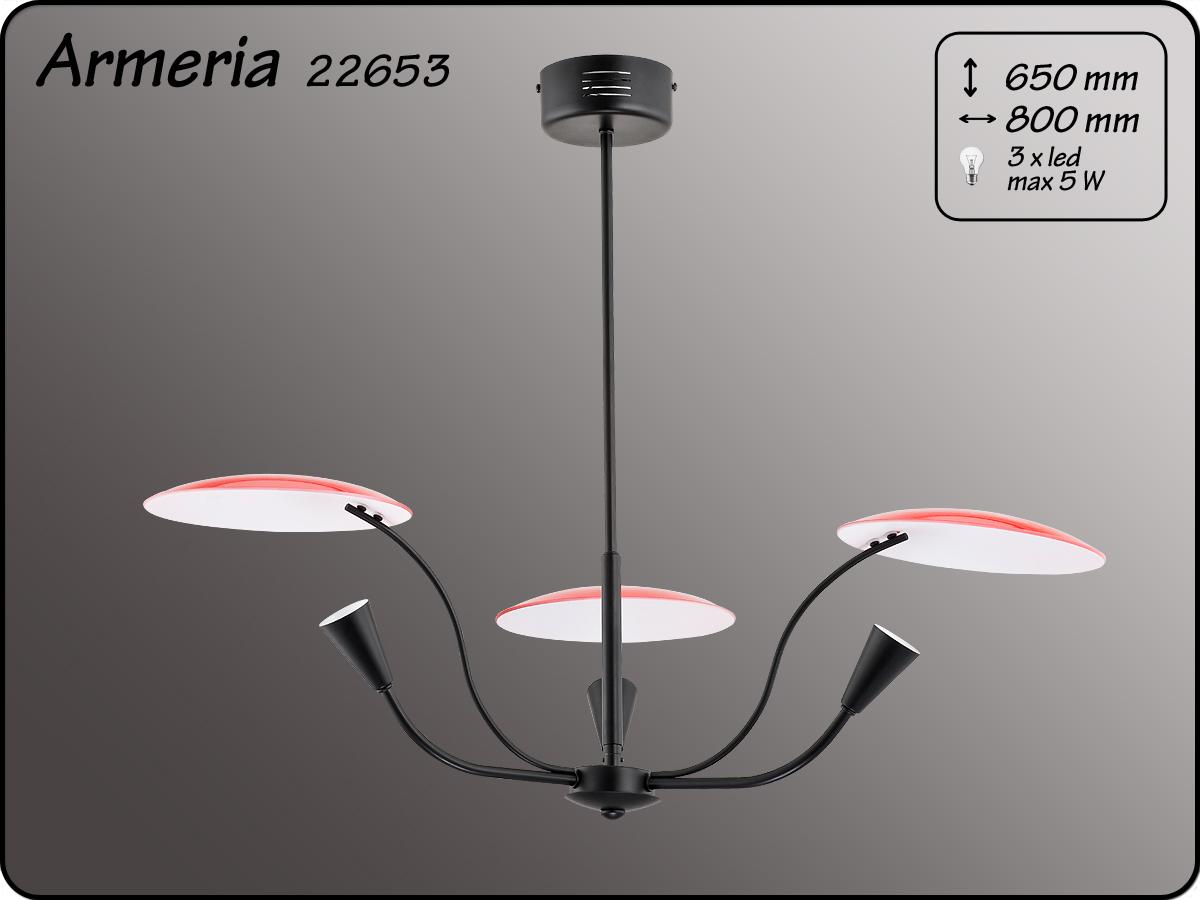 ALFA • ARMERIA BLACK RED, 3 ágú csillár, ALFA