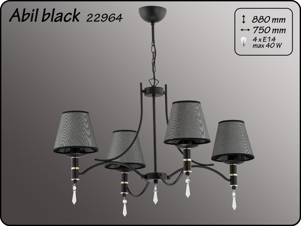 ALFA • ABIL BLACK SILVER, 4 ágú csillár, ALFA