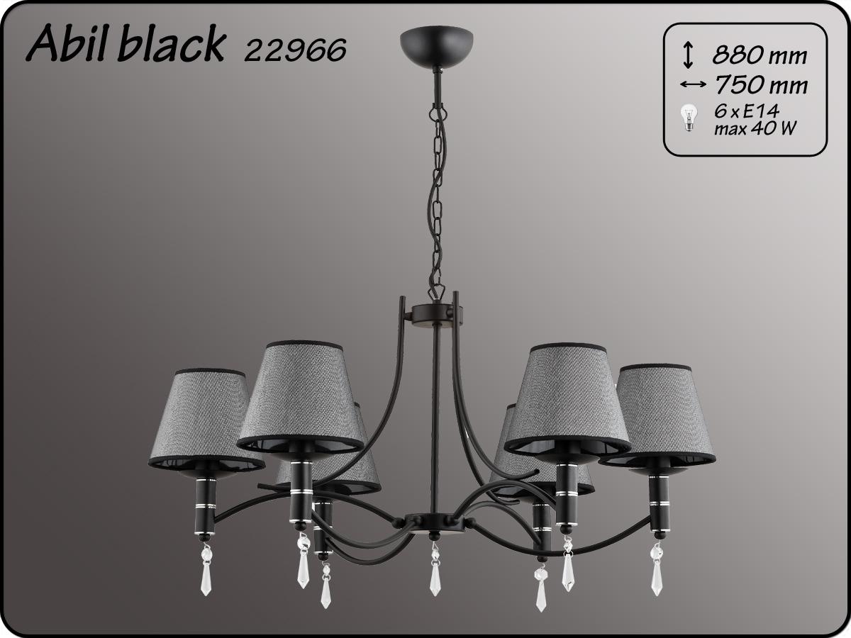 ALFA • ABIL BLACK SILVER, 6 ágú csillár, ALFA