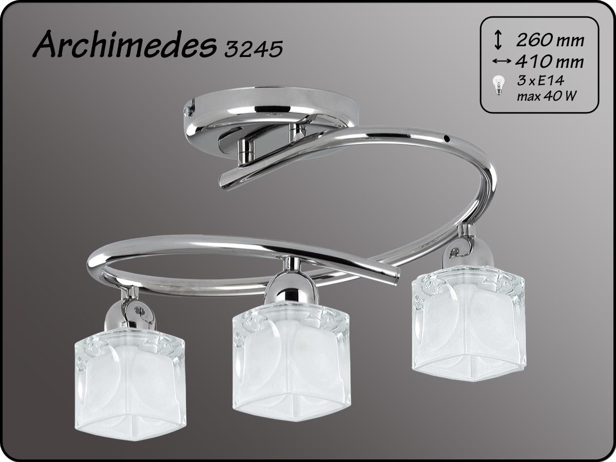 ALFA • ARCHIMEDES MINI, 3 ágú mennyezeti lámpa, spirál, ALFA