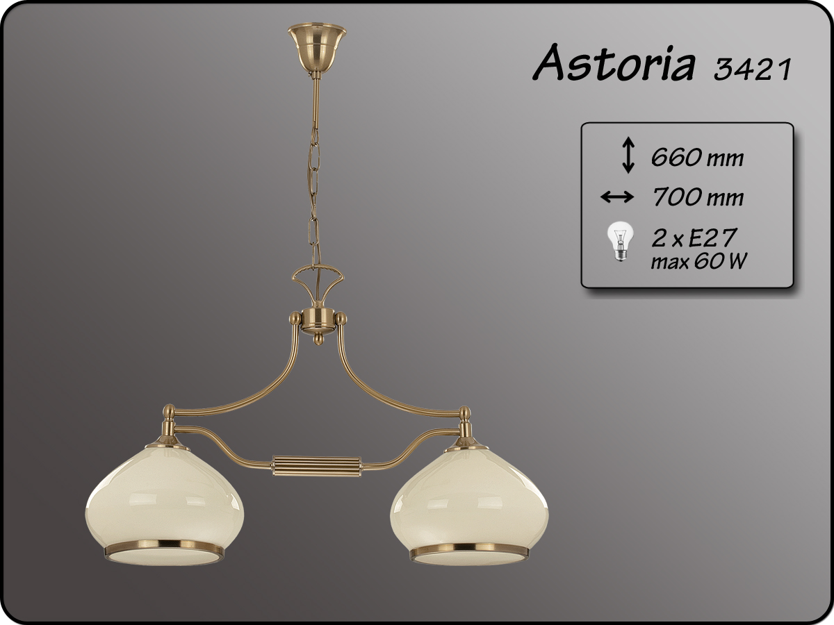 ALFA • ASTORIA, 2 ágú függeszték, ALFA