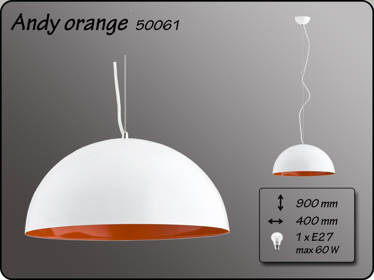 ALFA • ANDY, függeszték, D40, narancs, ALFA