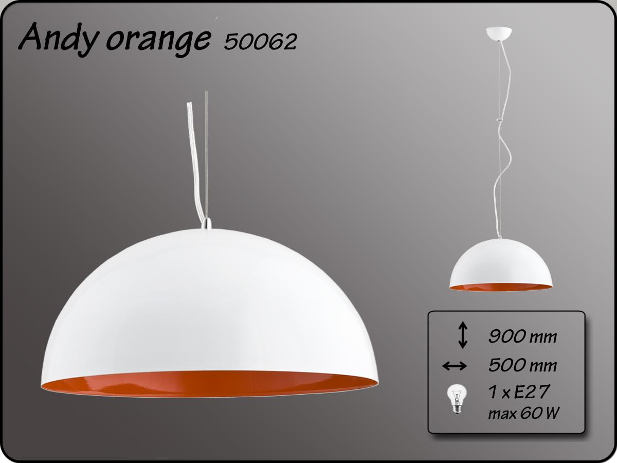 ALFA • ANDY, függeszték, D50, narancs, ALFA