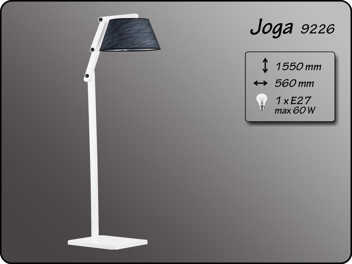 ALFA • JOGA, állólámpa, fehér/fekete, ALFA