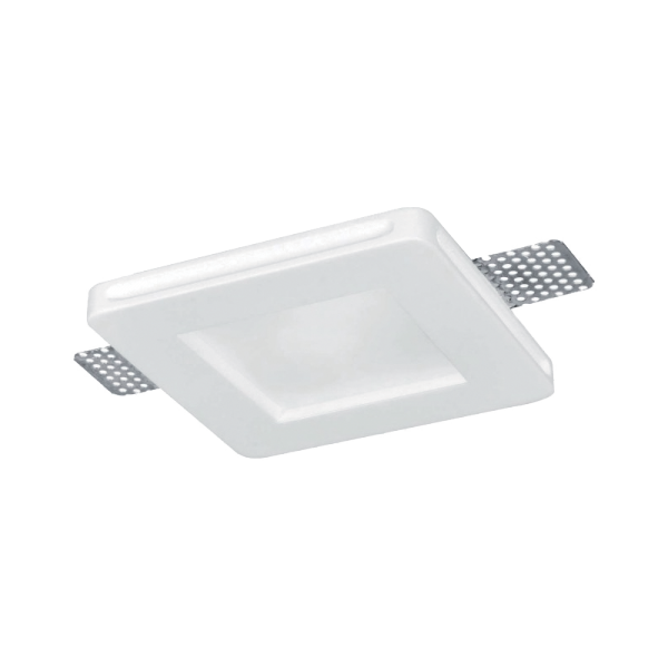 Elmark Lakásvilágítás GYPSUM DOWNLIGHT SQUARE RECESSED WITH DIFFUSER GU10
