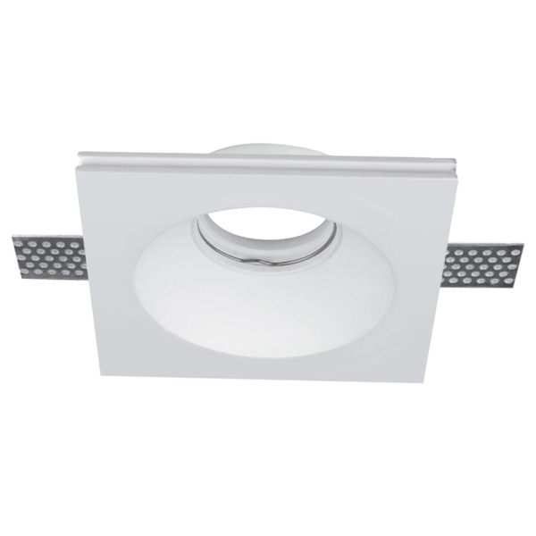 Elmark Lakásvilágítás GYPSUM DOWNLIGHT SQUARE RECESSED GU10 120X120mm