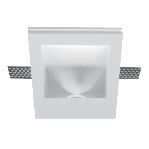 Elmark Lakásvilágítás GYPSUM DOWNLIGHT SQUARE RECESSED + LED CREE 1W 4000K