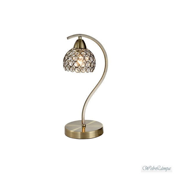 Elmark Lakásvilágítás LIZA TABLE LAMP 1XE14 ANTIQUE BRASS