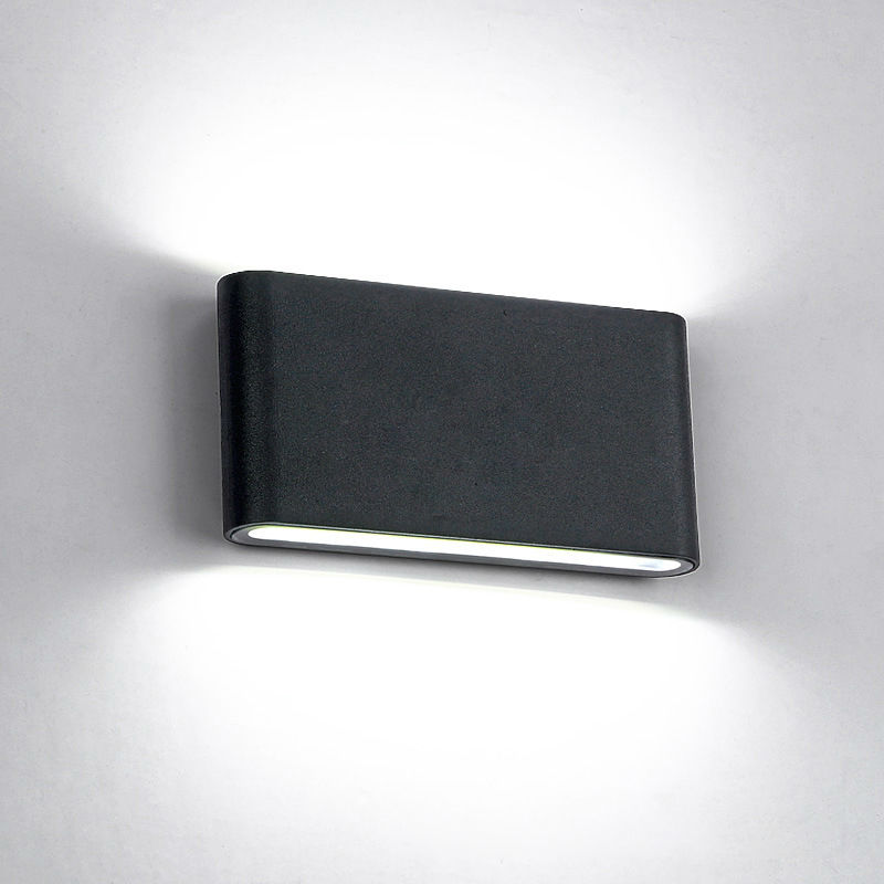 Elmark Lakásvilágítás  969 LED WALL LIGHT ROUNDED 2X6W 4000K IP65 BLACK