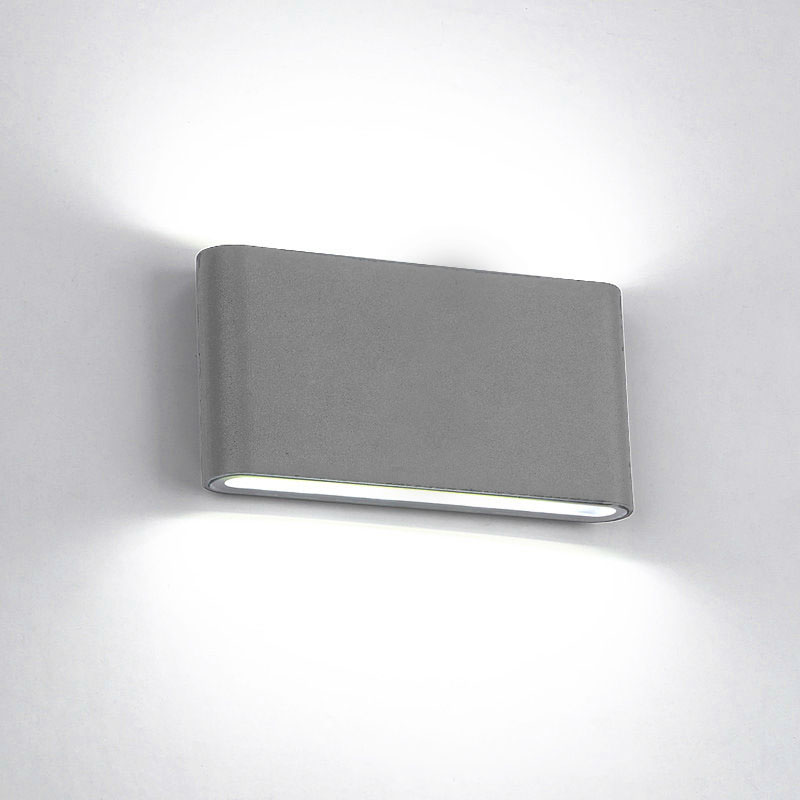 Elmark Lakásvilágítás  969 LED WALL LIGHT ROUNDED 2X6W 4000K IP65 GREY