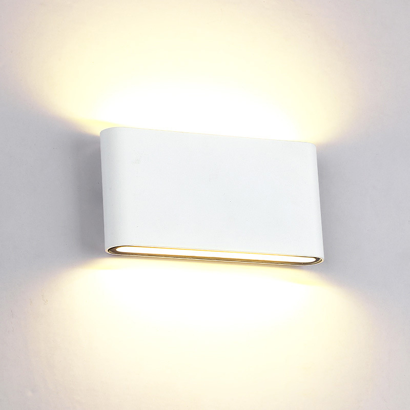 Elmark Lakásvilágítás  969 LED WALL LIGHT ROUNDED 2X6W 4000K IP65 WHITE