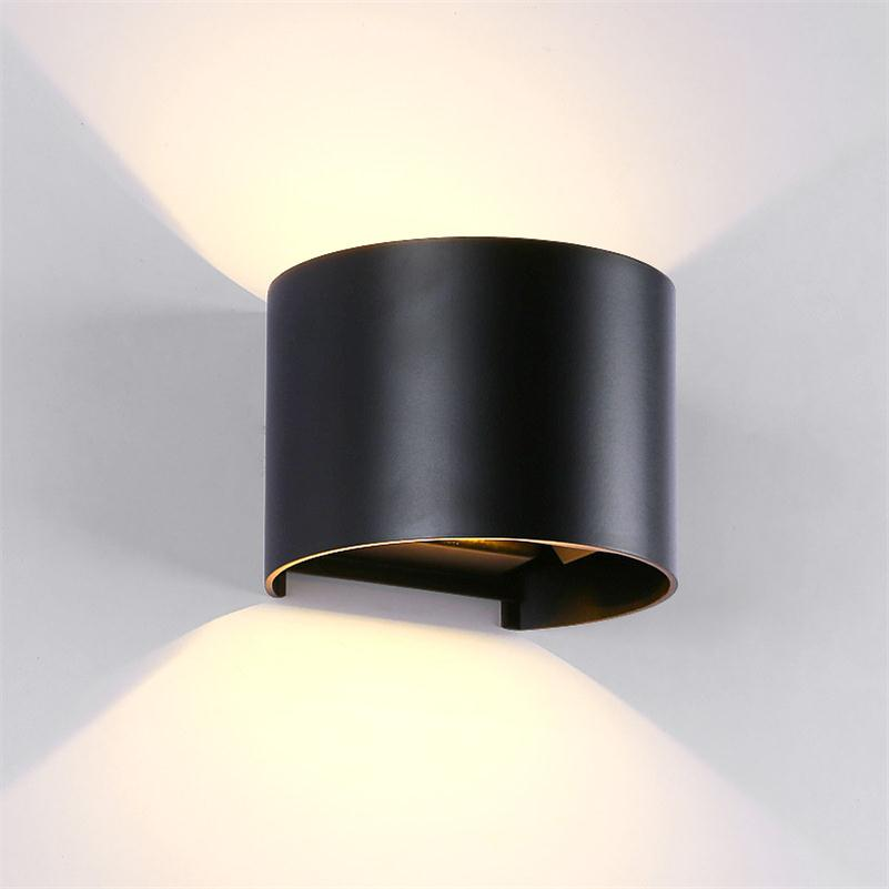 Elmark Lakásvilágítás  969 LED WALL LIGHT ROUND 2X5W 4000K IP54 BLACK
