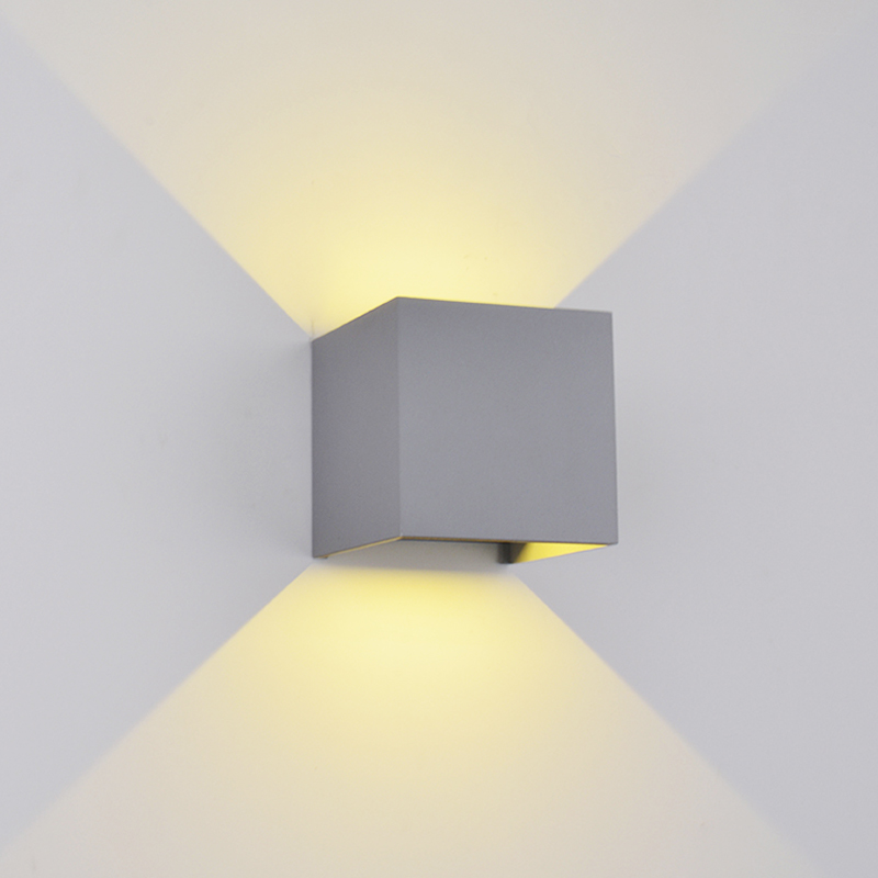 Elmark Lakásvilágítás  969 LED WALL LIGHT SQUARE 2X5W 4000K IP54 GREY