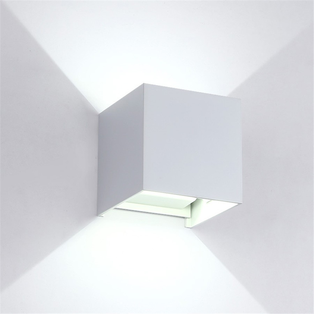 Elmark Lakásvilágítás  969 LED WALL LIGHT SQUARE 2X5W 4000K IP54 WHITE