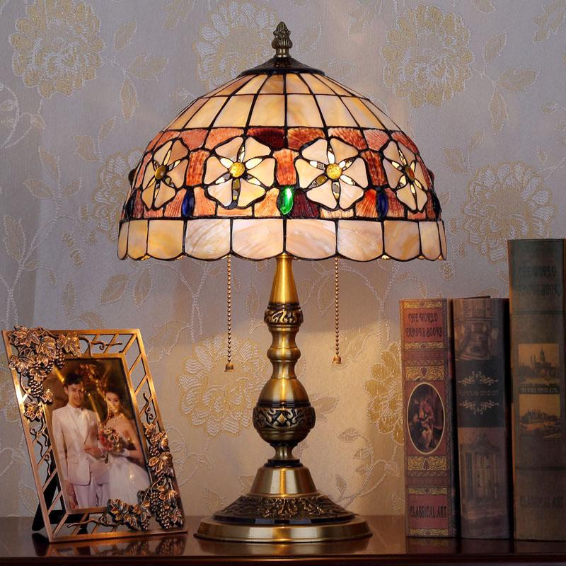 HoDel Flowerleaf tiffany asztali lámpa