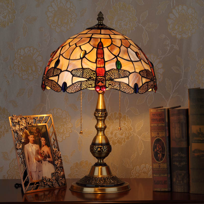 HoDel Dragonfly tiffany asztali lámpa