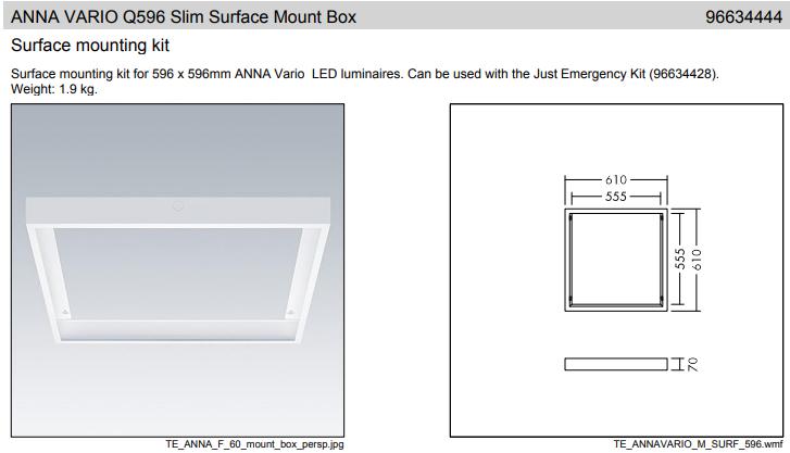 Thorn ANNA VARIO Q622 Recessed Mount Box sűlyesztett szerelő keret keret